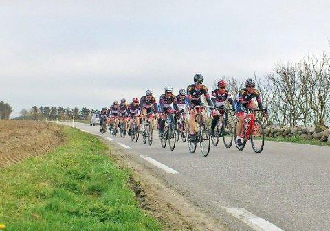 KLUBBREKORD:Laget frå DSK sykla inn som det tredje beste laget i Color Line Setesdal Tour laurdag.