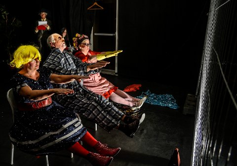 FESTIVAL: Hokksund ByTeater tar meg seg teaterforestillingen «Yvonne – prinsessa av Burgund» til amatørfestival i Lithauen. Bildet er fra en annen forestilling.