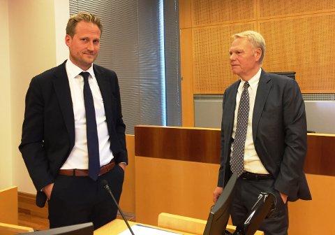 KORRUPSJONSDOM: Aktor Esben Kyhring er tilfreds mens forsvarer Ola Lunde vil lese dommen nøye og gå gjennom saken med sin klient får å vurdere eventuell anke.