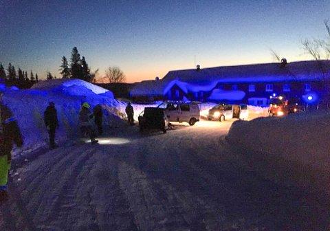 Ulykken skjedde på hovedveien opp mot skisenteret, like ved Sandumseter.