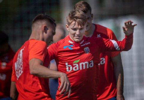 Martin Ødegaard ble byttet ut etter en smell onsdag i landskampen mot Gibraltar.