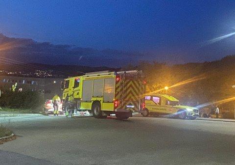 Ulykken skjedde i Lauritz Hervigs vei torsdag kveld.