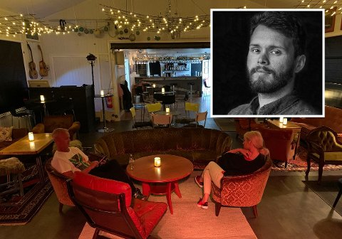 ROLIG KVELD: Birgit L. Johansen og Tore Fosse driver Perleporten Kulturhus i Honningsvåg. Nå satser de på stillesittende disco med DJ Eplejuice.