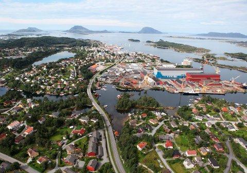 Flyfoto av Florø.