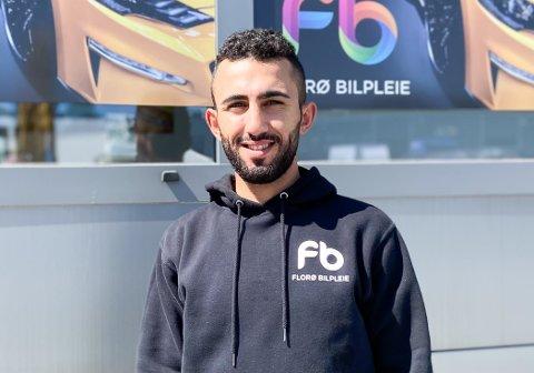 VIL VASKE BILEN DIN: Mohammed Yaser Al Aboud har starta opp Florø bilpleie AS