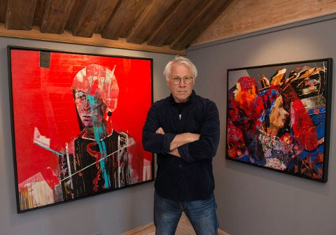 Fargerik: Erik Formoe har alltid vært fargerik, og hans «portretter» utfordrer deg. Nå kan du se 40 av hans arbeider på Soli Brug fra 25. mai til 10. juni. Ter av dem vises for første gang i Norge, og ble malt i USA i 2015.