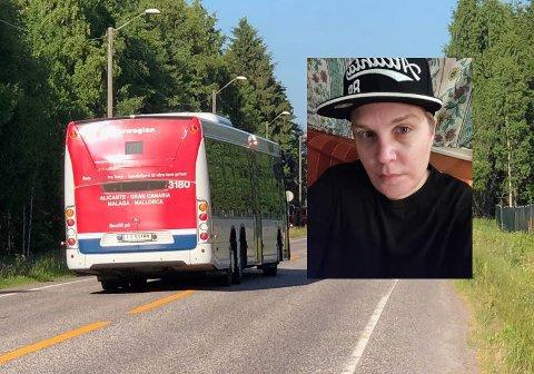 UBEHAGELIG BUSSTUR: Ildrid Desiree Mangaard reagerte kraftig på parfymebruken til en bussjåfør på 01-bussen i helgen.