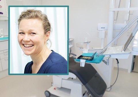 HJEMMEKONTOR: Cesilie Skollerud Hegna opplever daglig, gjennom småpraten hun har med pasientene, at rutineendringer i hverdag, som hjemmekontor, kan påvirke tannhelsa.