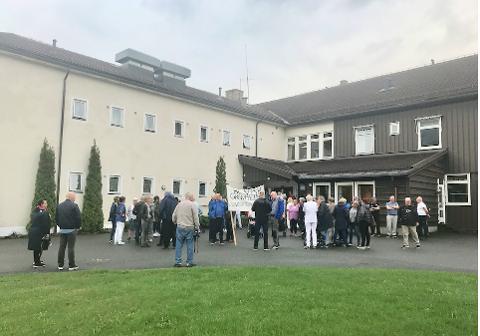 Demonstrasjon mot nedlegging av Granheim lungesykehus 22. mai 2019.