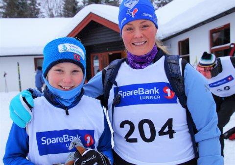 BURSDAG OG MORSDAG: Kari Heggen (10) hadde bursdag mens Hege Krüger hadde morsdag under Mylla Rundt 2018.