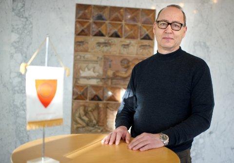 Topper lista: Torbjørn Hansen (61) fra Jevnaker er innstilt som nummer en til stillingen som rådmann i Gran kommune. Bildet er tatt i 2013, da Hansen var økonomiansvarlig i Ringerike kommune.