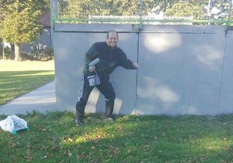 ETTER: Slik så skatepark-veggen ut etter at den ble malt over.