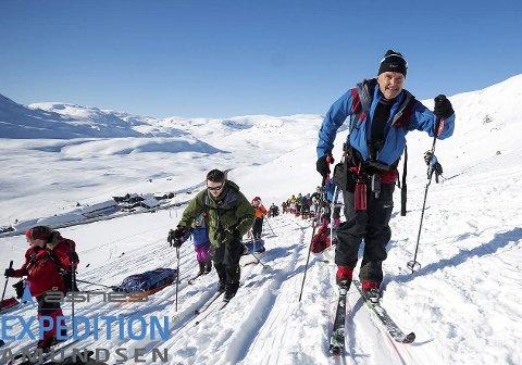 På tur: Dag Otto Lauritzen var deltakar under 2018-utgåva av Åsnes Expedition Amundsen.Foto: Kai Otto Melau/Extrem Eidfjord
