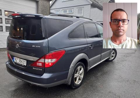 FORSØK PÅ SVINDEL: Axel Carnerö holdt på å bli svindlet da han skulle selge denne bilen av merket Ssangyong Rodius på Finn.no.