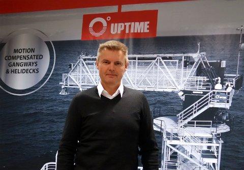 LEDER: Svein Ove Haugen i Karmøy-baserte Uptime International. Selskapet lever tilkomstløsninger mellom fartøy og installasjoner til havs, og har nå sikret seg en ny, stor kontrakt.