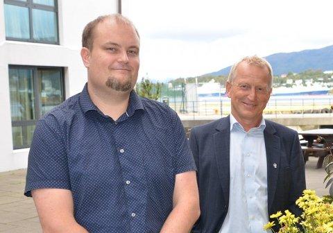 LEDER: Terje Eriksen (t.v.) ble tirsdag valgt til ny leder for Fiskarlaget Vest. Han tar over roret etter Kåre Heggebø.