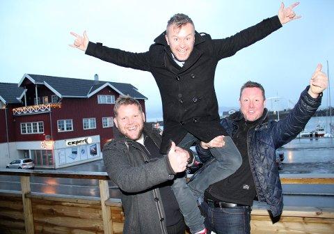 Harald Carlsen, Raymond Værnes og Morten Rudi Johansen står bak Havnafestivalen i Sandnessjøen.