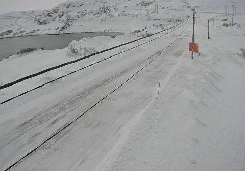 Slik ser det ut i Kongsfjord, Berlevåg kommune, tirsdag morgen.