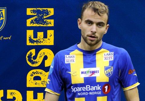 NYTT LÅN: Brage Berg Pedersen skal spille for Alta IF fram til 2. august.