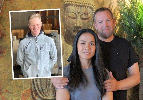 NY RESTAURANT: Goi og Roger Uttakleiv satser sammen med blant andre Tom Dahlberg (innfelt) på nytt utelivskonsept i Harstad.
