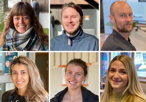 Her er noen av de som var ute å stemte mandag.