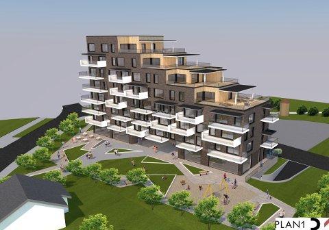 Planen er et bygg i opptil åtte etasjer mot nord og med nedtrapping til fire etasjer mot sør. Det legges opp til en første etasje med næringsarealer, som deles i to av en gjennomgående gangpassasje. Her er planlagt uteområder, både for beboere og allmennheten.