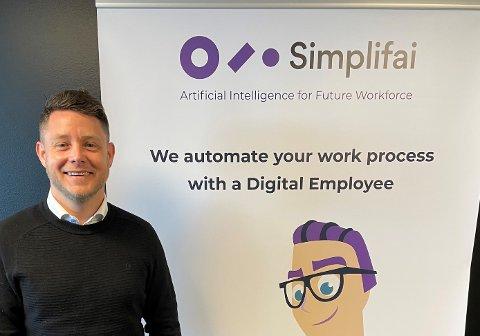 I NY JOBB: Tommy Nilsen fra Aurskog har fått seg ny jobb som sales manager hos IT-bedriften Simplifai.