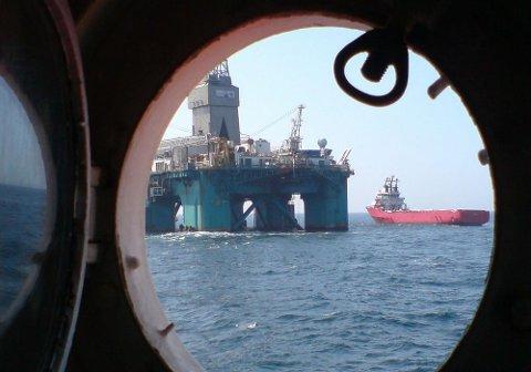 Leteriggen «Leiv Eriksson» fant gass etter å ha boret på 355 meters dyp i Norskehavet, utenfor Brønnøysund. Her fotografert ved en tidligere anledning.