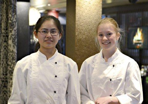 På grand: Emma Li Saltnes Østby (t.v.) og Ida Heistad Larsen. foto: Elisabeth Brandal Søfting