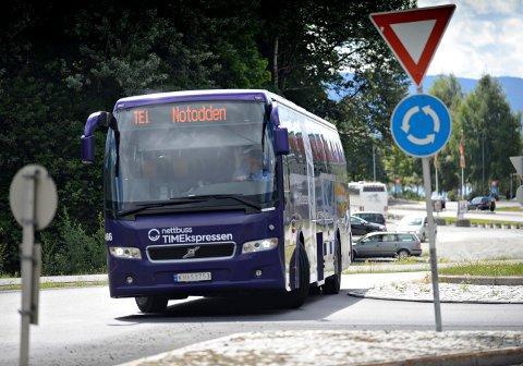 MEST PÅ DAGTID: Nettbuss har et par aganger fra Oslo natt til søndag, ellers kjøres ikke nattbuss mellom Oslo og Kongsberg/Notodden.