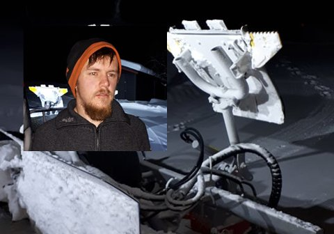 INVESTERT: Lars Jørgen Ro har investert over 2 millioner kroner på en ny tråkkemaskin på Dagalifjell.