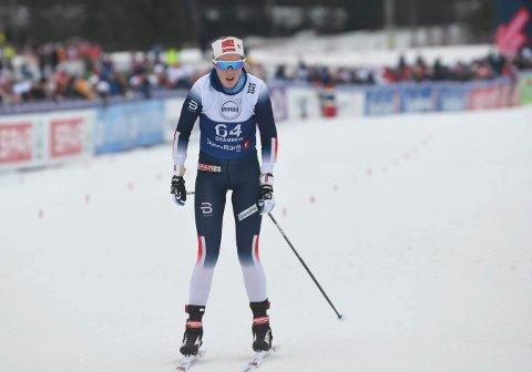 SKUFFET: Karoline Simpson-Larsen hadde håpet å kunne blant seg inn i kampen om en plassering blant de 10-15 beste i NM.