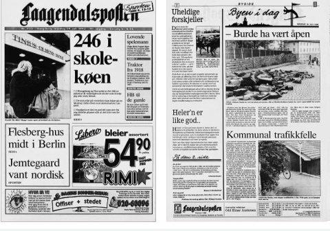 Nå kan du lese gamle utgaver av Laagendalsposten gratis på nett. Akrivfoto fra 1993