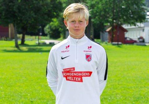 Fotballtalent: Andreas Wilhelmsen Fotland spiller til vanlig i Stoppen SK. Denne uka deltar han på talentleir sammen med Norges beste fotballspillere i alderen 14 til 16 år.