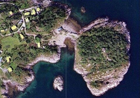 Flyfoto over det nye boligfeltet i Kabelvåg
