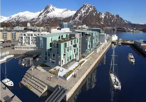 Thon tar over: Thon Hotels har overtatt hotellprosjektet og selskapet Kaikanten Eiendom AS i Svolvær. De skal nå bygge det som blir hotellkjedens andre hotell i Svolvær. Det nye hotellet skal få rundt 200 rom og konferansefasiliteter og kjeden får dermed rundt 400 rom totalt i byen.