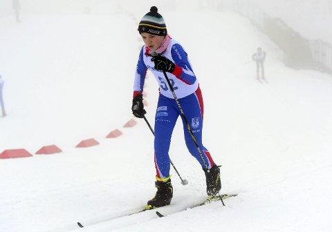 I Kollen: Anton Fjellheim-Ulriksen var blant de lokale skiløperne i Holmenkollen i helga.Foto: Svein Halvor Moe