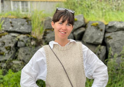 Siv Karin Evjen (32) har trent siden februar for triatlon som skal holdes i Svolvær på slutten av august.
