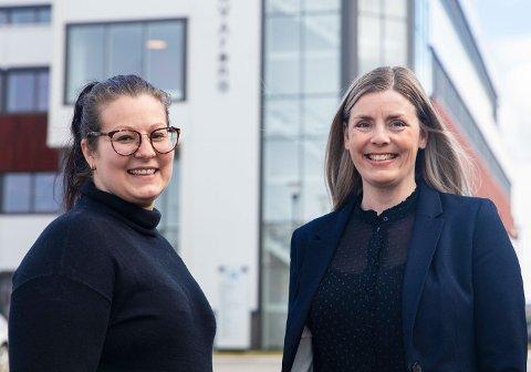 NY PROSJEKTLEDER: Beate Rasmussen (til høyre) blir ny prosjektleder på InnovArena. Daglig leder Andrea Nogva ser fram til å ha henne på plass i august – og samtidig få Ungt Entreprenørskap inn i klyngen.