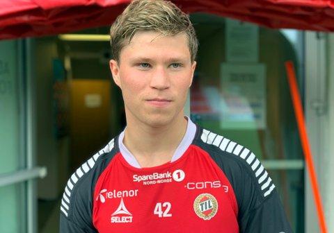 HET I NORD: Sander Finjord Ringberg under TIL-oppholdet den siste uka i august. Nå har han gjort sine saker så bra i Bodø at Glimt vil følge 20-åringen tett i de ti siste serierundene, og sportslig leder Aasmund Bjørkan mener han er en spiller som vil passe godt inn hos dem.