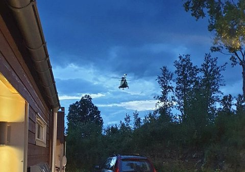 LUFTSØK: Dette bildet er fra det aktuelle søket som ble avbrutt etter at piloten ble blendet. Foto: Øystein Barth-Heyerdahl