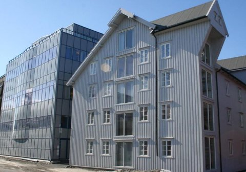 LEIER: Sparebank1 Nord-Norge er ny leietaker i bygget  i Kaigata. Avtalen er midlertidig.