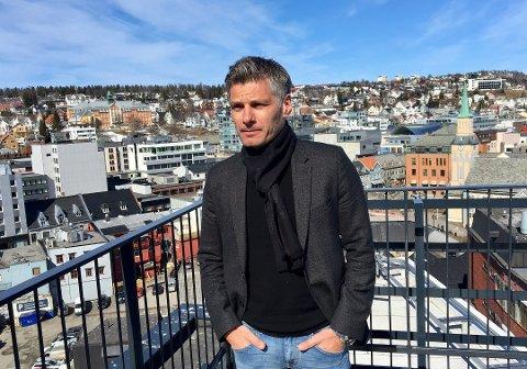 TOMTEPLANER: Kenneth Bless er med i utviklingen av et nytt næringsområde på Ramfjordmoen.