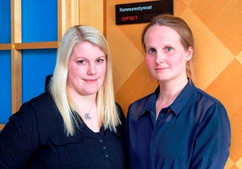 - Det blir ikke bra å bo på Vestsida før skolen er lagt ned, mener mødrene Thea Furre (t.v.) og Karoline Ranheim Bjørlien.