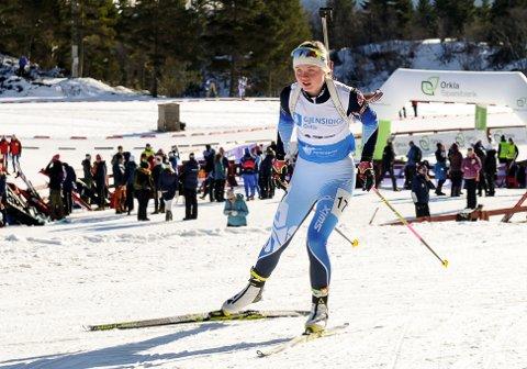 TIL TOPPS: Eivor Melbybråten imponerte da hun i helga ble juniornorgesmester i skiskyting.