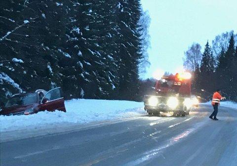 UTFOR: En bilist var uheldig og havnet i grøfta ved Kapp.