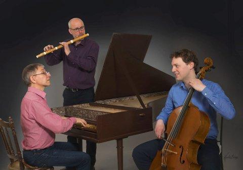 Bare barokk: Øystein Thomessen på fløyte, cellisten Roar Blåsmo-Falnes og Guy Poupart på cembalo.