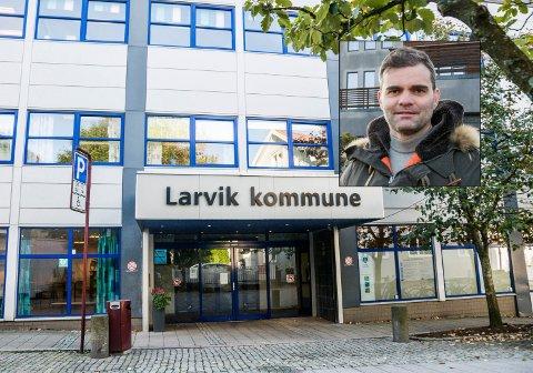 Ikke nådig: Julien Piombino (innfelt) retter kraftig skyts mot Larvik kommune i brevet han leverte til ordføreren tidligere denne uka.