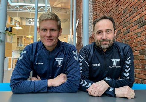 Simon Disch og Lars Stomperudhaugen har fått stillingene som fagansvarlig idrett og rektor ved TTU Porsgrunn.