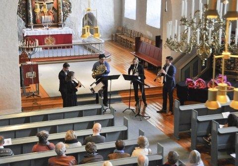 Blåsekonsert: Oslo-Filharmoniens Blåsekvintett avsluttet sesongens konsertserie i Rakkestad kirke søndag ettermiddag.